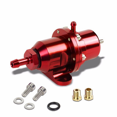 Red Bolt-On Adjustable Fuel Pressure Regulator For Honda/Acura B16/B18/F20/F22-Performance-BuildFastCar