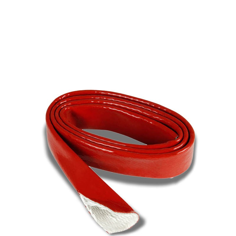 "3/4"" Inch/20MM Fire Sleeve Red High Temp Silicone Braided Insulation Hose x 1 FT-Performance-BuildFastCar"