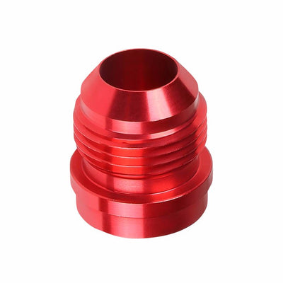 Red 1/8-27 NPT Straight Male Weld On Bung Oil/Fuel Hose 8AN Fitting Adapter-Performance-BuildFastCar
