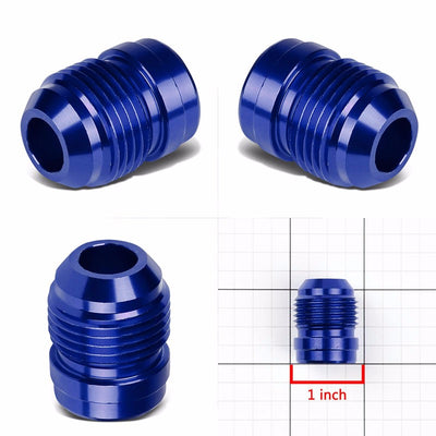 Blue 1/8-27 NPT Straight Male Weld On Bung Oil/Fuel Hose 10AN Fitting Adapter-Performance-BuildFastCar