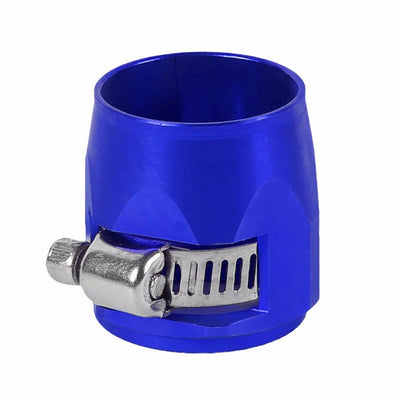 Blue Push On Hose End Cover Clamp Finisher Oil/Fuel Hose 12AN Fitting Adapter-Performance-BuildFastCar