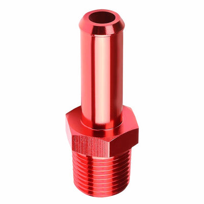 "Red 1/2"" NPT Male Straight To 5/8"" Hose Port Nipple Oil/Fuel Fitting Adaptor-Performance-BuildFastCar"