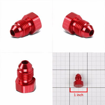 Red Aluminum Male Flare Head Nut Plug Lock Oil/Fuel Hose 3AN Fitting Adapter-Performance-BuildFastCar