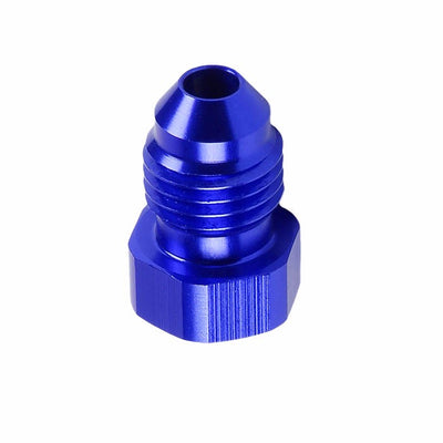 Blue Aluminum Male Flare Head Nut Plug Lock Oil/Fuel Hose 4AN Fitting Adapter-Performance-BuildFastCar