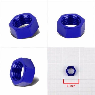 Blue Aluminum Sealing Bulkhead Seal Plug Oil/Fuel Hose Nut 4AN Fitting Adapter-Performance-BuildFastCar