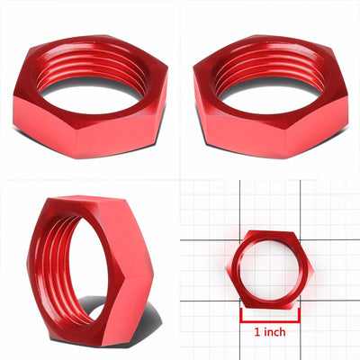 Red Aluminum Sealing Bulkhead Seal Plug Oil/Fuel Hose Nut 12AN Fitting Adapter-Performance-BuildFastCar