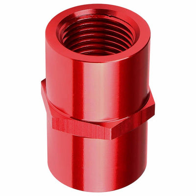 "Red Female Taper Coupler Pipe 1/8"" NPT Thread Oil/Fuel Hose 2AN Fitting Adapter-Performance-BuildFastCar"