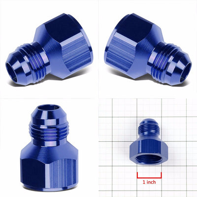 Blue Aluminum 12AN Female Flare-10AN Male Reducer Oil/Fuel Hose Fitting Adaptor-Performance-BuildFastCar