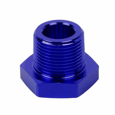 "Blue Aluminum 1/4"" Female-3/4"" Male NPT Bushing Oil/Fuel Reducer Fitting Adapter-Performance-BuildFastCar"