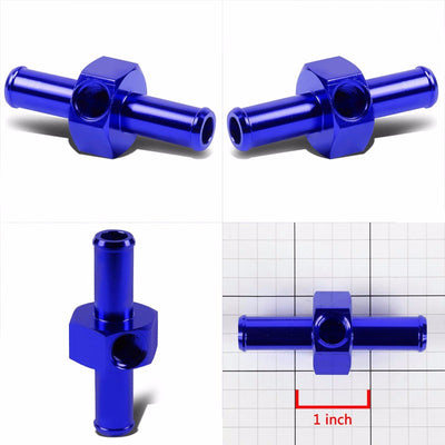 "Blue Aluminum 1/2"" Male Tube/Hose Union Straight Coupler 8AN Fitting Adapter-Performance-BuildFastCar"