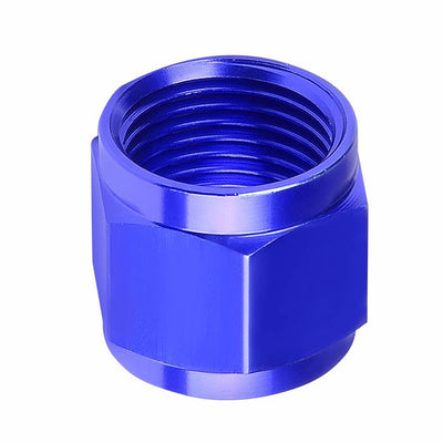 Blue Aluminum Female Tube/Line Sleeve Nut Flare Oil/Fuel 3AN Fitting Adapter-Performance-BuildFastCar
