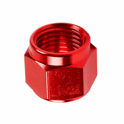 Red Aluminum Female Tube/Line Sleeve Nut Flare Oil/Fuel 6AN Fitting Adapter-Performance-BuildFastCar
