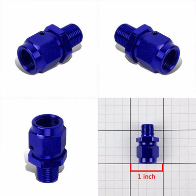 "Blue 4AN Female Flare-1/8"" NPT Male Reducer Swivel Hose B-Nut Fitting Adapter-Performance-BuildFastCar"