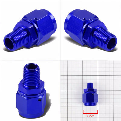 "Blue 8AN Female Flare-1/8"" NPT Male Reducer Swivel Hose B-Nut Fitting Adapter-Performance-BuildFastCar"