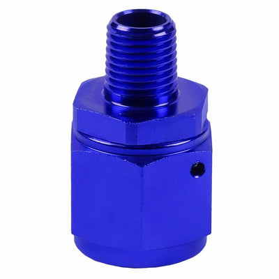 "Blue 10AN Female Flare-1/4"" NPT Male Reducer Swivel Hose B-Nut Fitting Adapter-Performance-BuildFastCar"
