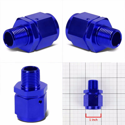 "Blue 10AN Female Flare-3/8"" NPT Male Reducer Swivel Hose B-Nut Fitting Adapter-Performance-BuildFastCar"