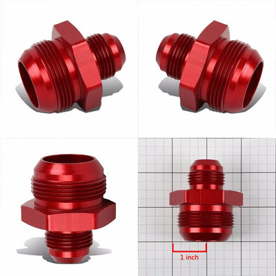 Red 12AN Male-20AN Male Flare Reducer Union Oil/Fuel Hose/Line Fitting Adapter-Performance-BuildFastCar