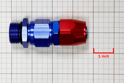 Red/Blue Straight Swivel Oil/Fuel/Fluid Line Hose End 12AN T3 Fitting Adapter-Performance-BuildFastCar