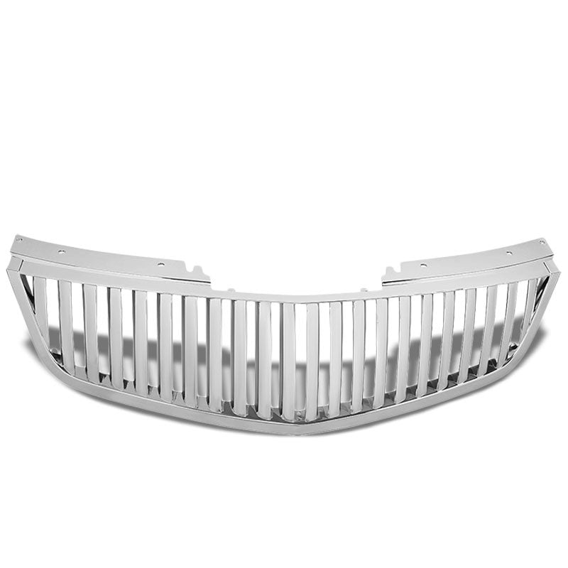 Chrome Vertical Style Replacement Front Grille For Cadillac 06-11 DTS 4.6L DOHC-Exterior-BuildFastCar
