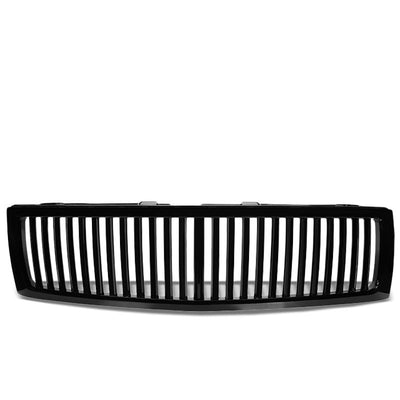 Black Vertical Style Front Grille For Chevrolet 07-13 Silverado 1500 GMT900-Exterior-BuildFastCar