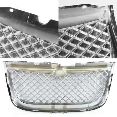 Chrome Diamond Mesh Style Front Grille Grill For Chrysler 99-04 300M 3.5L SOHC-Exterior-BuildFastCar