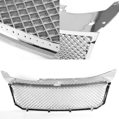 Chrome Diamond Mesh Style Replacement Grille For Dodge 08-10 Avenger Sedan DOHC-Exterior-BuildFastCar