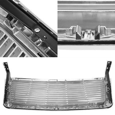 Chrome Vent Style Replacement Grille For Ford 04-08 F-150 P2 4.2L/4.6L/5.4L-Exterior-BuildFastCar