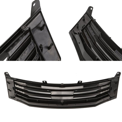 Black Mugen Style Replacement Front Grille For 08-10 Accord Sedan 2.4L/3.5L-Exterior-BuildFastCar