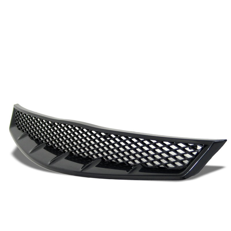 Black Diamond Mesh Style Replacement Front Grille For 06-08 Civic FG1 SOHC/DOHC-Exterior-BuildFastCar