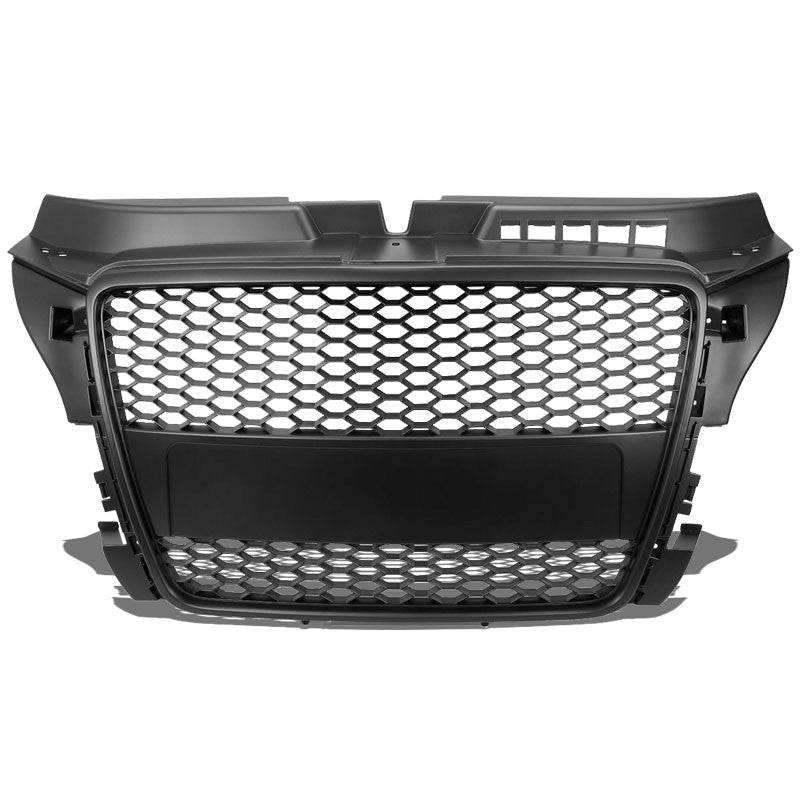 Black Honeycomb Mesh Style Front Grille For 08-11 Audi A3 Base/TDI 2.0L DOHC-Exterior-BuildFastCar
