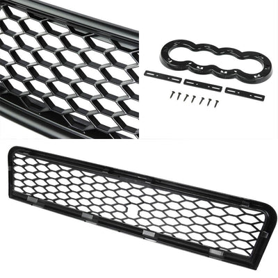 Black Mesh RS Style Replacement Front Grille For 00-05 A4 B6 Typ 8E/8H Base-Exterior-BuildFastCar
