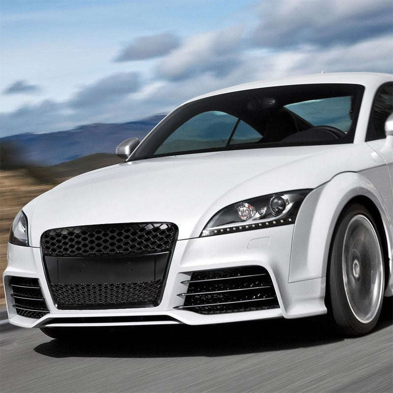 Black Honeycomb Mesh Style Front Grille For 08-14 Audi TT Base 1.8L/2.0L DOHC-Grilles-BuildFastCar
