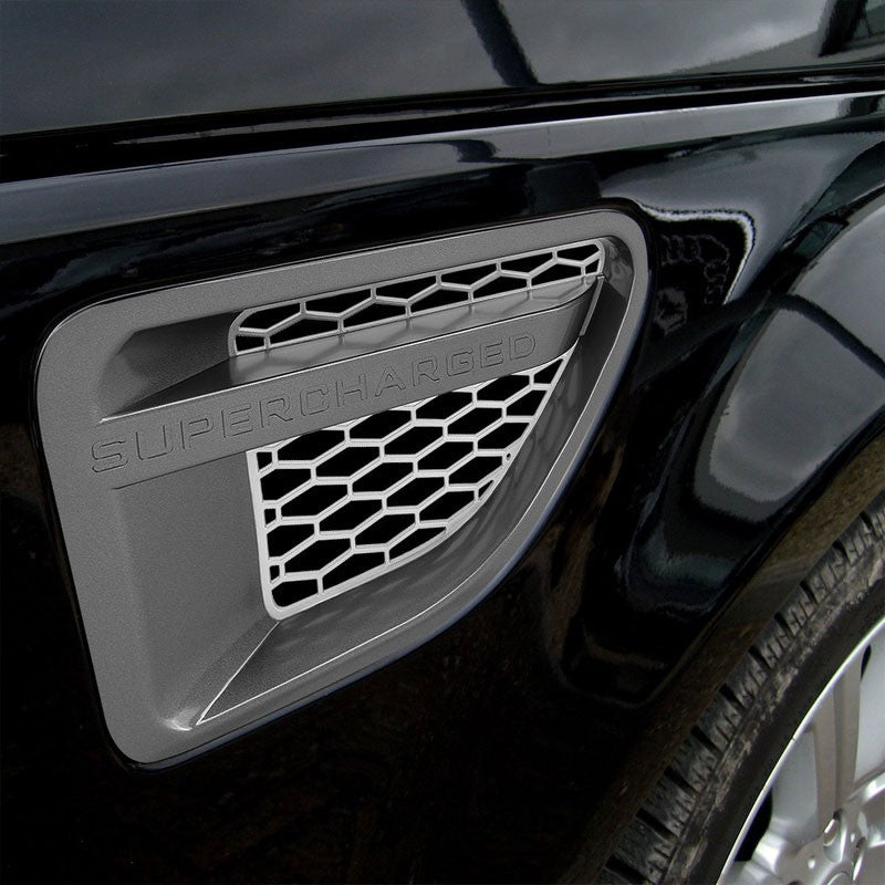 Grey/Silver Honeycomb Mesh Side Vent Grille For 06-09 Range Rover Sport L320-Exterior-BuildFastCar