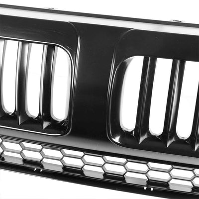 Black Vertical Style Replacement Front Grille For Honda 07-09 CR-V 2.4L DOHC-Exterior-BuildFastCar