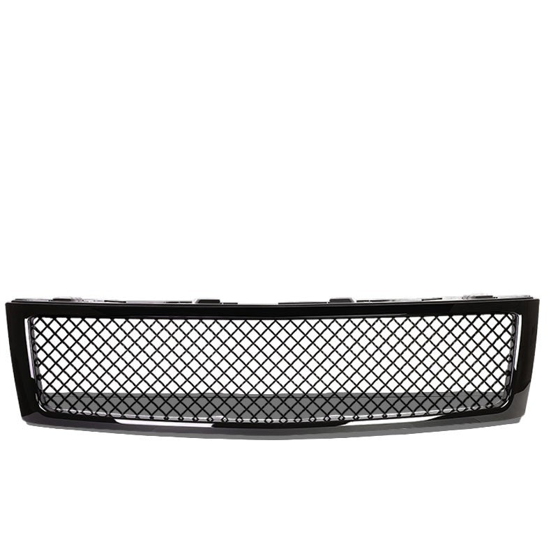 Black Diamond Mesh Style Front Grille For 07-13 Silverado 1500 GMT900 V6/V8-Exterior-BuildFastCar