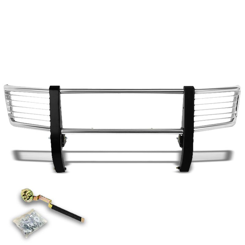 Chrome Mild Steel Brush Grille Guard Frame For Mercedes-Benz 99-12 G-Series-Exterior-BuildFastCar