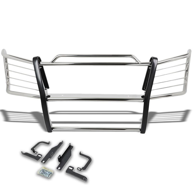 Chrome Mild Steel Front Bumper Brush Grill Guard For 03-06 Silverado 1500HD/2500-Exterior-BuildFastCar