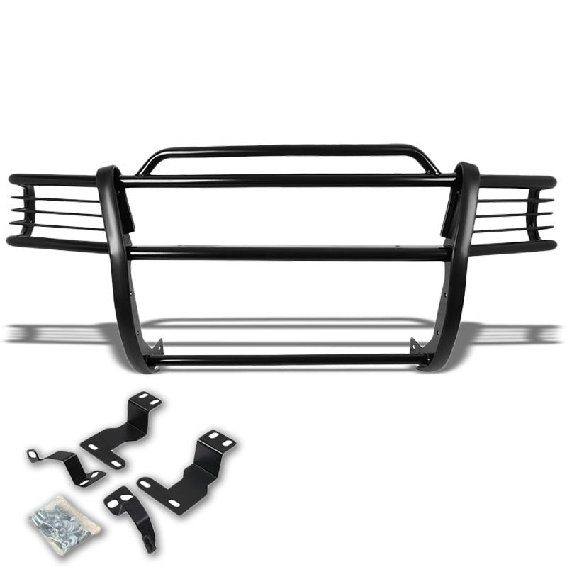 Black Mild Steel Front Bumper Brush Grill Guard For 97-04 Dakota/98-03 Durango-Exterior-BuildFastCar