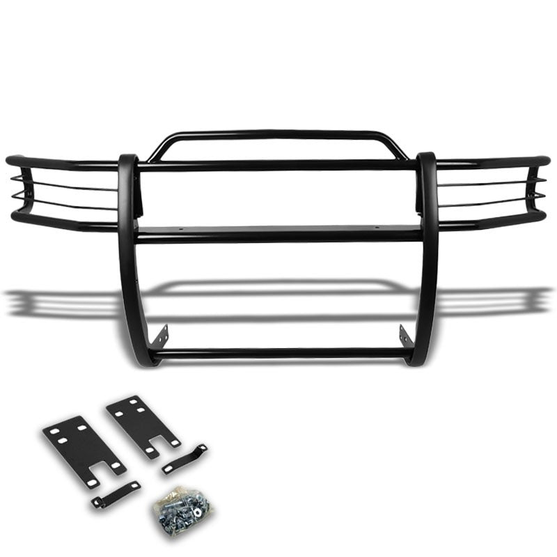 Black Mild Steel Front Bumper Brush Grill Guard For Dodge 99-01 Ram 1500 Sport-Exterior-BuildFastCar