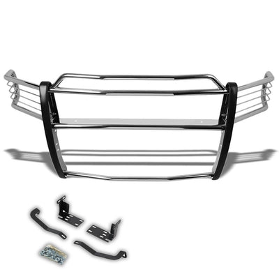 Chrome Mild Steel Front Bumper Grill Guard For 02-05 Ram 1500/03-05 Ram 25/3500-Exterior-BuildFastCar