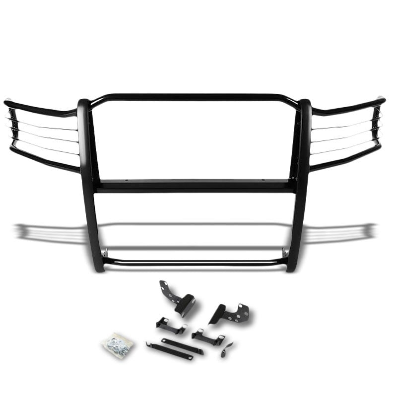 Black Mild Steel Front Bumper Brush Grill Protection Guard For 09-17 Ram 1500-Exterior-BuildFastCar