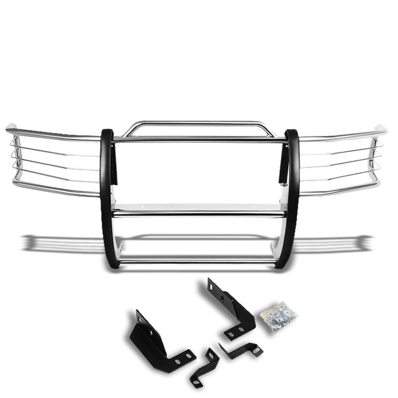 Chrome Mild Steel Front Bumper Grill Guard For 92-96 Bronco/F150/92-97 F-250/350-Exterior-BuildFastCar
