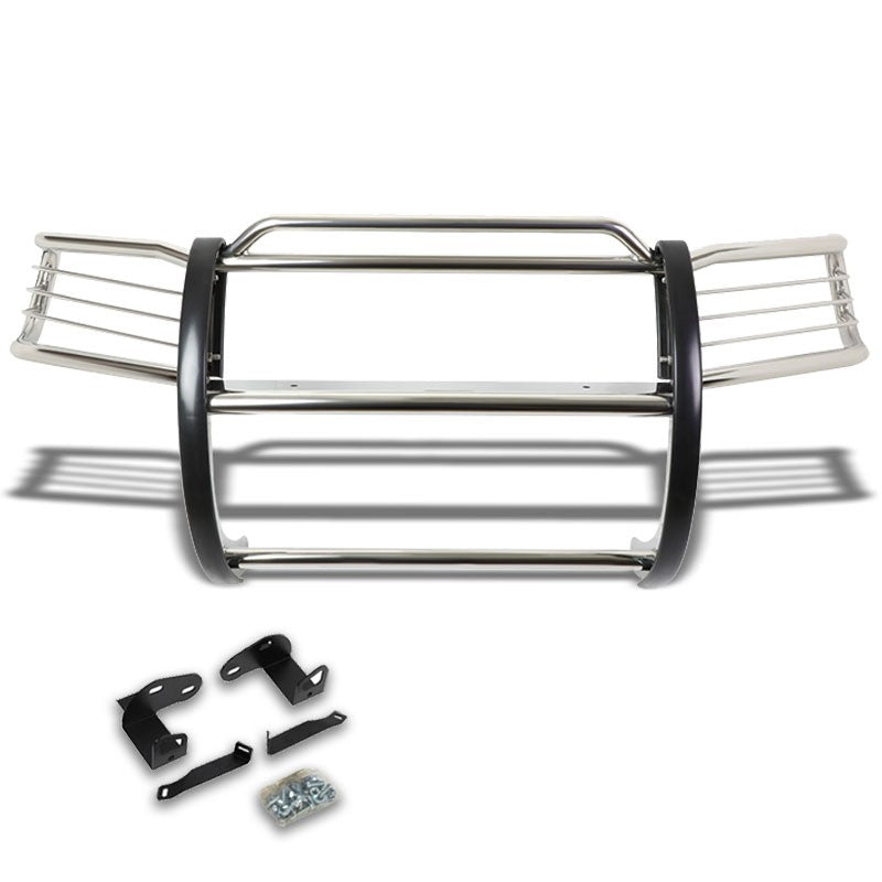 Chrome Mild Steel Front Bumper Brush Grill Protection Guard For 01-04 Escape CD2-Exterior-BuildFastCar