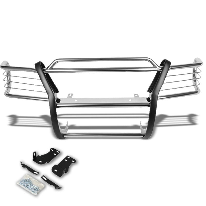 Chrome Mild Steel Front Bumper Brush Grill Guard For 95-01 Explorer/Mountaineer-Exterior-BuildFastCar