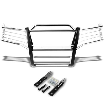 Chrome Mild Steel Front Bumper Brush Grill Guard For 01-05 Explorer Sport Trac-Exterior-BuildFastCar