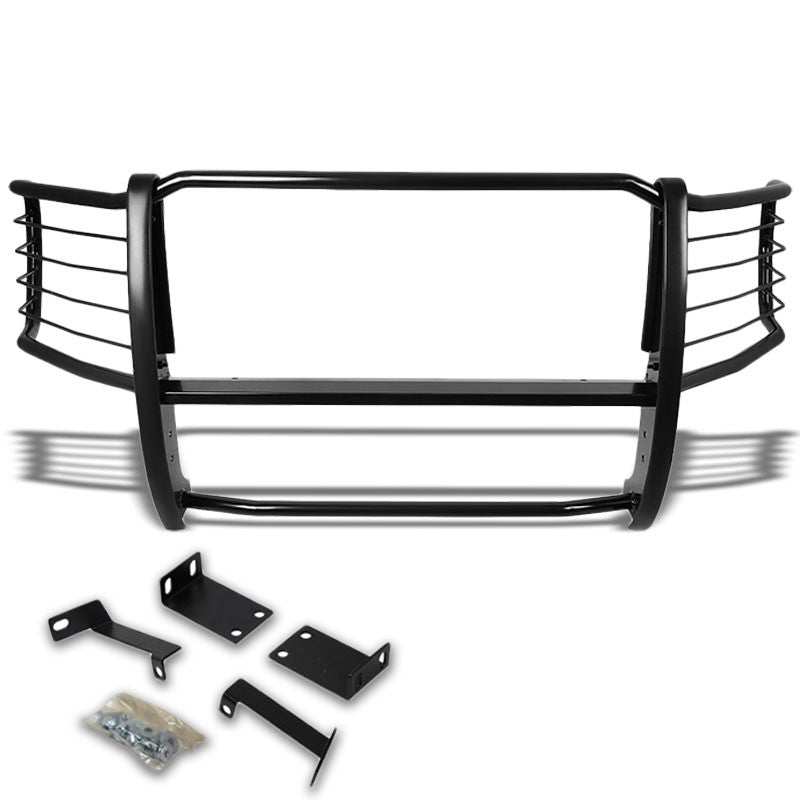 Black Mild Steel Front Bumper Brush Grill Guard For 08-10 F250-550 Super Duty-Exterior-BuildFastCar