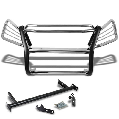 Chrome Mild Steel Front Bumper Brush Grill Guard For Honda 07-11 CR-V RE1-7 2.4L-Exterior-BuildFastCar
