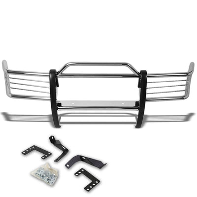 Chrome Mild Steel Front Bumper Brush Grill Guard For 93-97 Grand Cherokee ZJ-Exterior-BuildFastCar