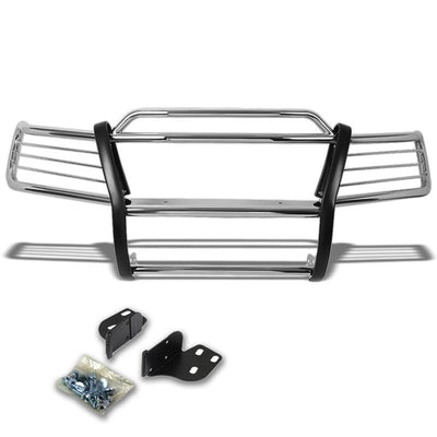 Chrome Mild Steel Front Bumper Brush Grill Guard For 99-04 Grand Cherokee WJ-Exterior-BuildFastCar