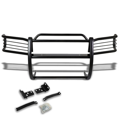 Black Mild Steel Front Bumper Brush Grill Guard For Nissan 96-04 Pathfinder R50-Exterior-BuildFastCar